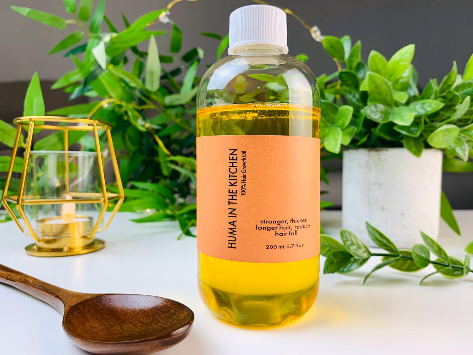 Huma S Organic Handcrafted Hair Oil Huma In The Kitchen
